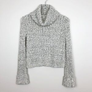 Free People Sweaters - Free People | Grey Cabel Knit Cropped Sweater